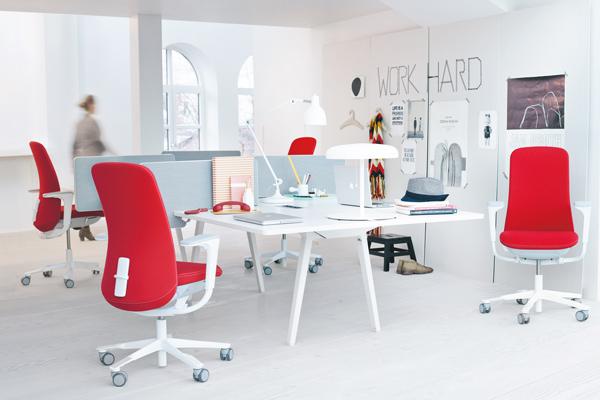 HAG Bürostuhl SoFi Rot bei Ergonomiewelt