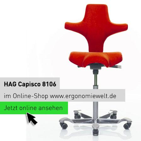 Der Klassiker HAG Capisco 8106 als konfigurierbarer Sattelstuhl z.B. in Rot