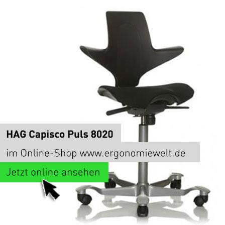 HAG Capisco Puls 8020 Sattelstuhl Sattelsitz in der ErgonomieWelt