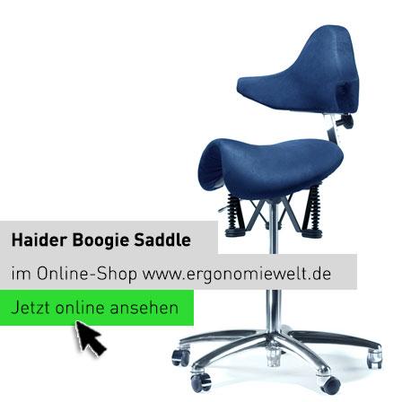 Haider Bioswing Boogie Saddle Sattelsitz Rollhocker