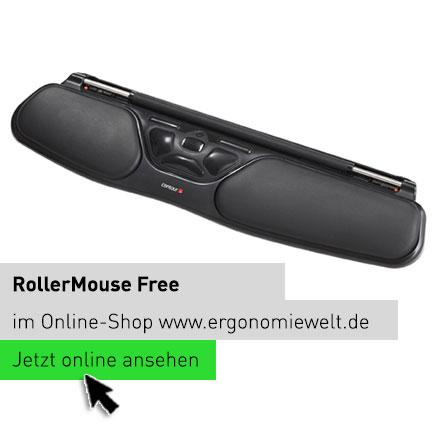Rollermouse Free ergonomische Tastatur Computerarbeitsplatz