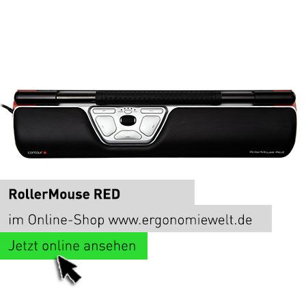 Rollermouse RED ergonomische Tastatur Computer