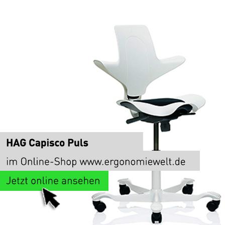 Sattelstuhl HAG Capisco Puls White Edition