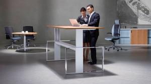 Steh-Sitz-Tisch Leuwico Büro