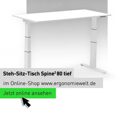 Steh-Sitz-Tisch Spine 2 80 tief ErgonomieWelt