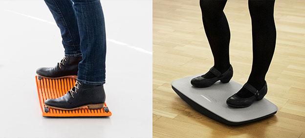 Spezielle Fußstützen für Sitz-/Stehtische