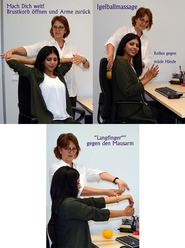 Tipps für Übungen im Büro