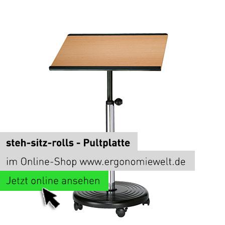 steh-sitz-rolls - Pultplatte rechteckig