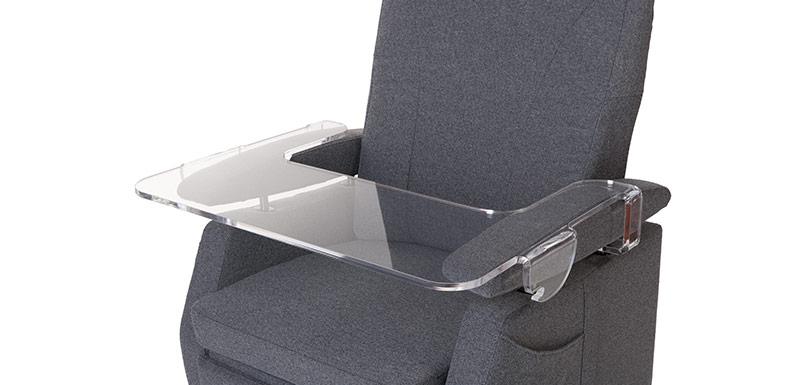 Ergonomiewelt Magazin Fitform Pflegesessel Tisch transparent