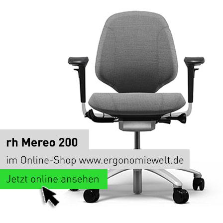 rh Mereo Ergonomischer Bürostuhl Modell 300 mit Armlehnen im Online-Shop der ErgonomieWelt