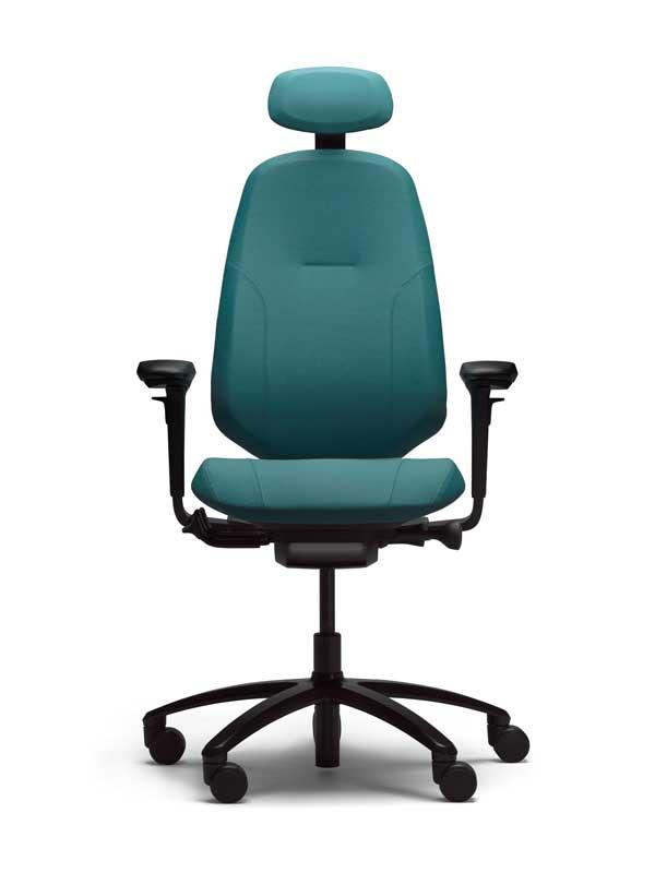 rh Mereo Ergonomischer Bürostuhl Modell 300 mit Armlehnen und Kopfstütze