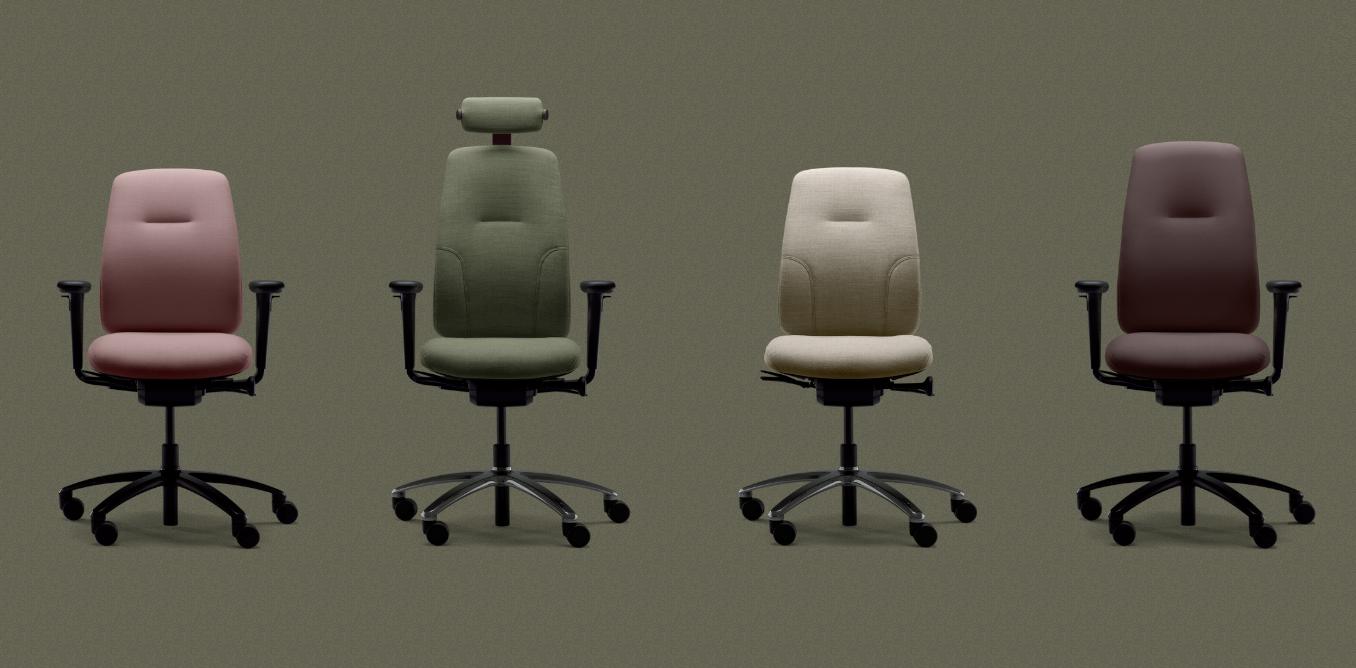 rh nachhaltiger ergonomischer Bürostuhl New Logic Variationen