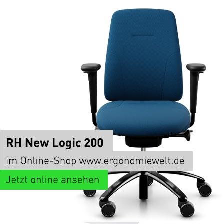 rh nachhaltiger ergonomischer Bürostuhl New Logic 200