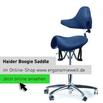 Der Haider Bioswing Boogie Saddle Sattelsitz in der ErgonomieWelt