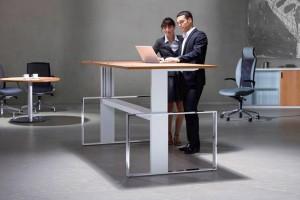 STEH-SITZ-TISCHE – Ergonomie für den Arbeitsplatz