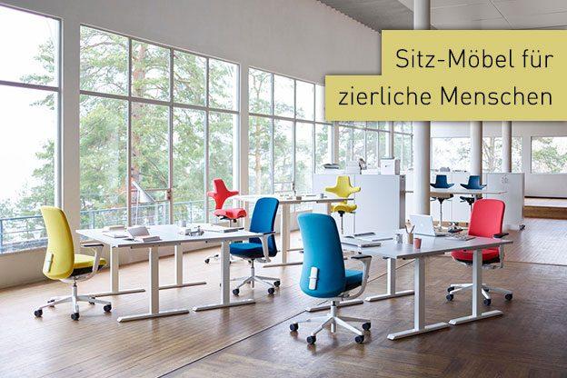 Bürostühle und Ruhe-Sessel für zierliche Menschen